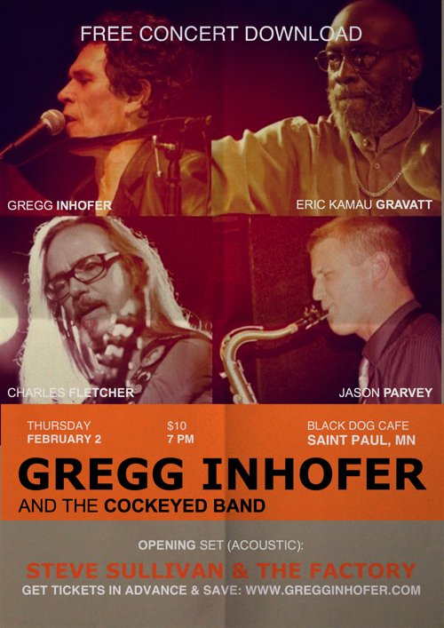 It's a Show! Gregg Inhofer and the Cockeyed Band @ Black Dog Coffee & Wine Bar, St. Paul